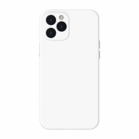Baseus Liquid Silica Gel szilikon fehér tok, iPhone 12 Pro Max