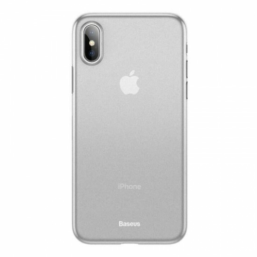 Baseus Wing Ultra Vékony Áttetsző Fehér PP (műanyag) tok, iPhone 11 Pro