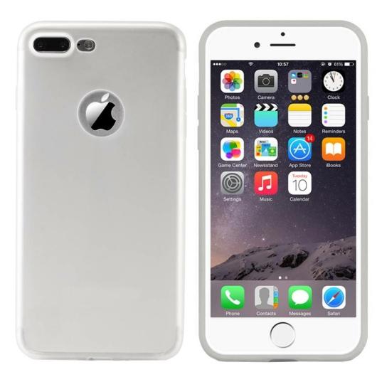 Colorfone Ezüst Metál színű TPU szilikon tok, Apple iPhone 7/8/SE 2020