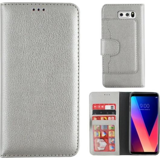 Colorfone, ezüst/szürke oldalra nyíló flip tok - Samsung Galaxy A8 (2018) SM-A530F