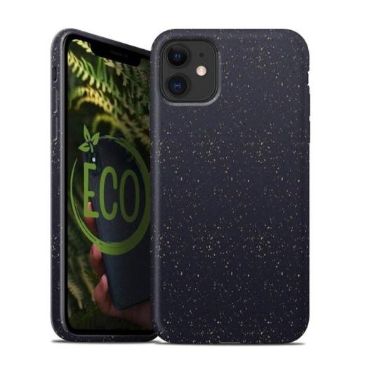 Forcell Bio Lebomló, Komposztálható tok, fekete Apple iPhone XS