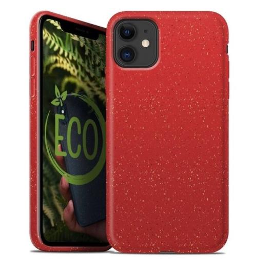 Forcell Bio Lebomló, Komposztálható tok, piros Apple iPhone 11