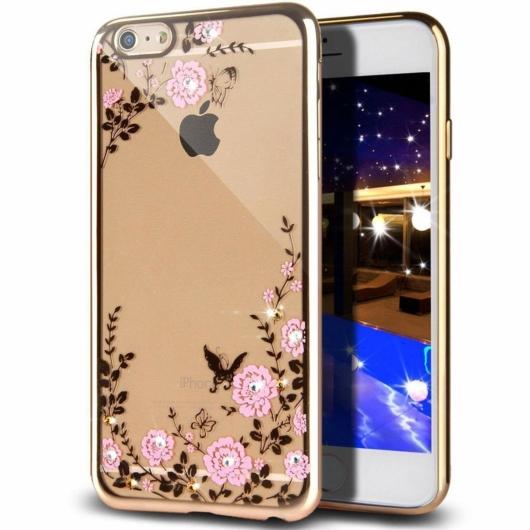Forcell Diamond Strasszköves Arany TPU szilikon tok Apple iPhone 5, 5s, 5C, SE