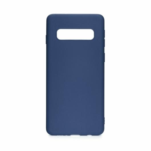 Forcell Silicone Kék TPU szilikon tok, Samsung Galaxy S10 Plus, SM-G975