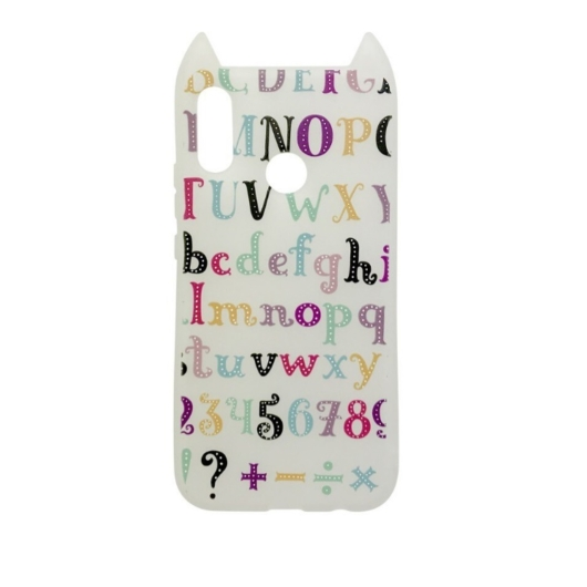 Hana Pop Jelly Fehér Színes ABC-s TPU szilikon tok, Apple iPhone X/Xs