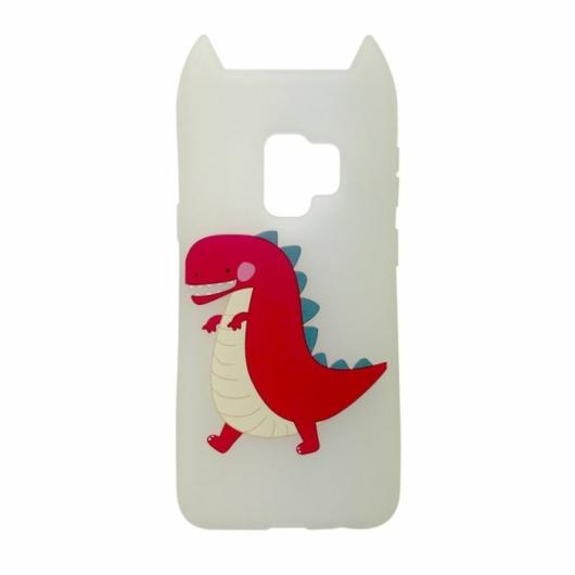 Hana Pop Jelly Fehér Dínós TPU szilikon tok, Samsung Galaxy S9 SM-G960