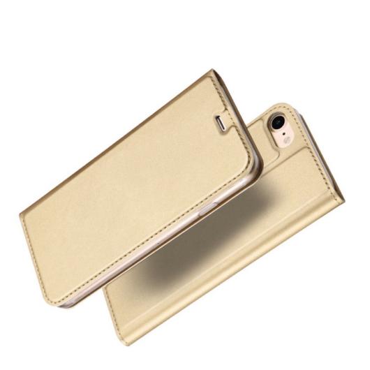 Dux Ducis Skin Pro arany oldalra nyíló műbőr flip tok - Apple iPhone 12