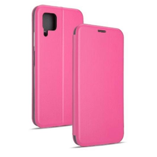 Pink oldalra nyíló mágneses flip tok  Apple iPhone 12