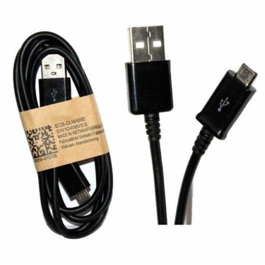 Samsung Micro USB adatkábel, töltéshez-szinkrozináláshoz, 2A, 1m, fekete