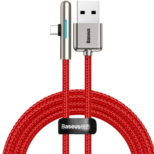 Baseus Iridescent Lamp Type-C kábel, töltésjelzővel, gyorstöltéssel, 4A, 1m