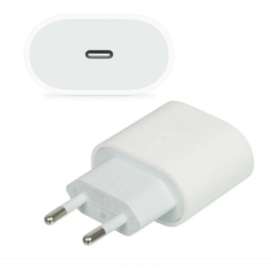 Apple Gyári hálózati töltő adapter 18W , USB-C kimenettel