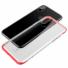 Kép 1/3 - Baseus Armor Ütésálló Áttetsző szilikon TPU tok, piros kerettel iPhone X/Xs