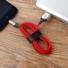 Kép 3/5 - Baseus X-type töltőindikátoros lightning kábel, 2.4A, 1m, piros